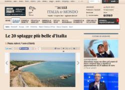 Il Sole24Ore elegge Punta Aderci al 3° posto tra le 20 spiagge più belle d'Italia